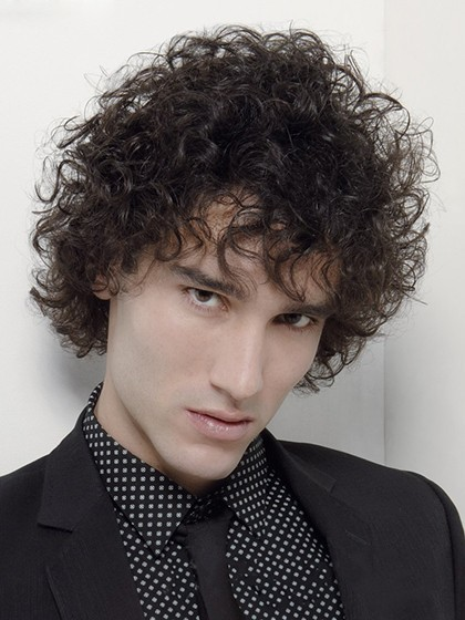 Fashion Short Curly Synthetic Hair Mens Wig