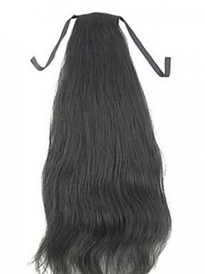 Human Hair Straight Ponytail