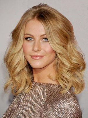 Luxury Medium Human Hair Length Lace Front Wig