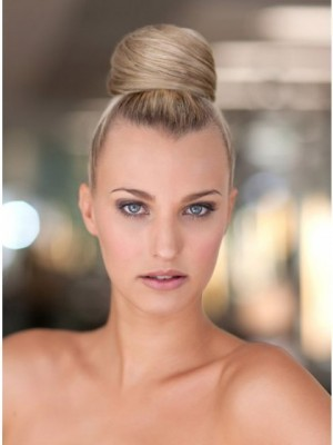 Synthetic Blonde Bridal Buns with Pressure Clip