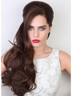 Marvelous Human Hair Clip in Hairpiece