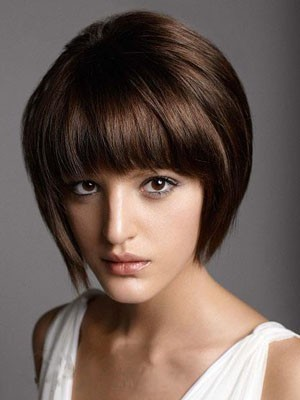 Chic Short Straight Capless Remy Human Hair Wig