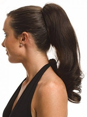 Nice Straight With Claw Clip Human Hair Ponytail