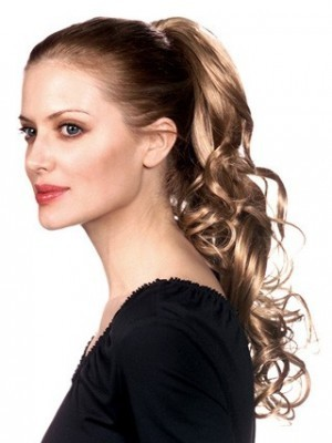 Fashion Wavy Clip-In Remy Hair Ponytail