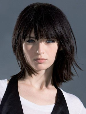 Good Looking Medium Straight Capless Human Hair Wig