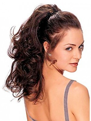 Remy Hair Wavy Ponytail with Two Combs