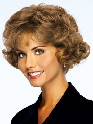 Short Human Hair Curly Lace Front Wig
