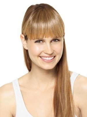 Blonde Remy Hair Clip In Fringes