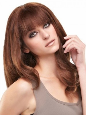 Lace Front Long Wavy Remy Human Hair Wig