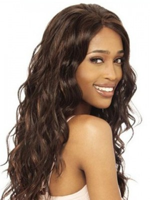 Body Wavy Remy Human Hair Lace Front African American Wig