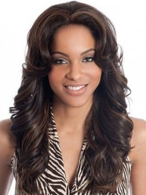 Wavy Lace Front Remy Human Hair African American Wig
