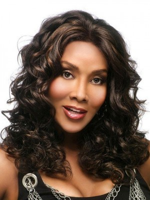 Stylish Long Wavy Synthetic Capless African American Wig