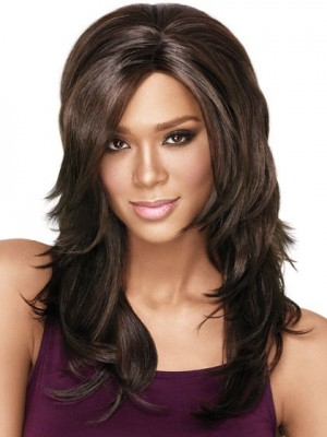 Long Layers Synthetic African American Wig
