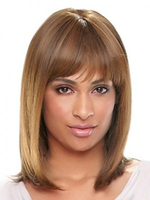 Long Silky Straight Synthetic African American Wig