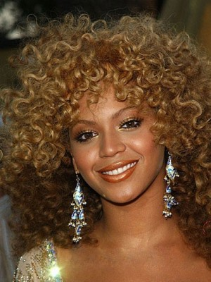 Mid-Length Curly Synthetic Capless African American Wig