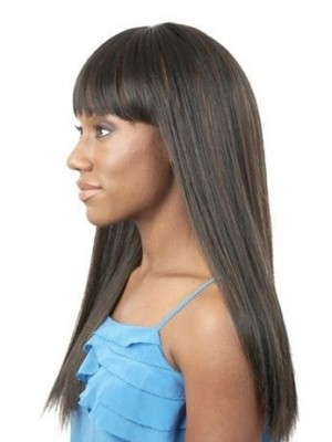Classic Straight Capless Synthetic African American Wig