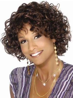 Graceful Loose Wavy Synthetic African American Wig