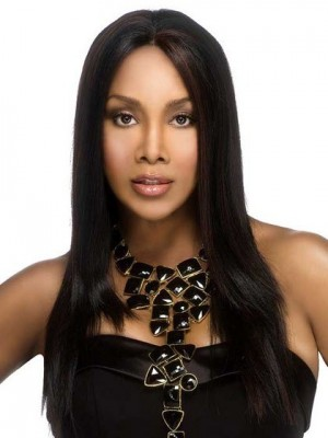 Stylish Long Straight Capless Synthetic African American Wig