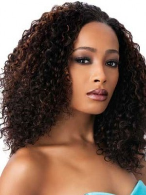Gorgeous Long Small Curly Synthetic African American Wig