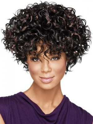 Fabulously Full-On Curly Synthetic African American Wig
