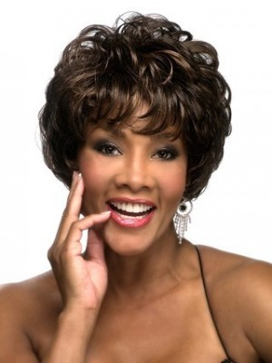 Graceful Short Wavy Synthetic African American Wig