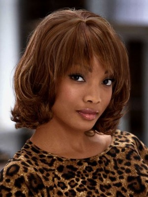 Elegance Mid-Length Wavy Synthetic African American Wig