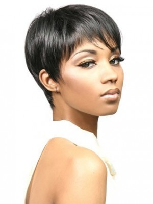 Bori Short Natural Straight Synthetic African American Wig