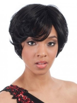 Short Capless Synthetic African American Wig