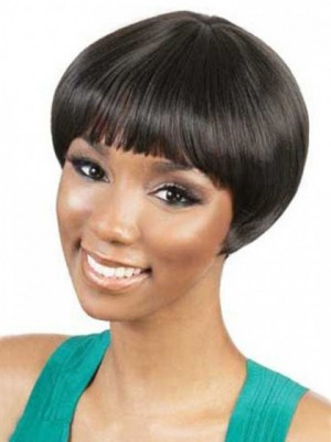 Capless Camila Short Synthetic African American Wig