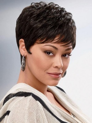 Carefree Wavy Chic Short Synthetic African American Wig