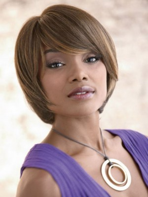 Elegance Bob Style Synthetic Capless African American Wig