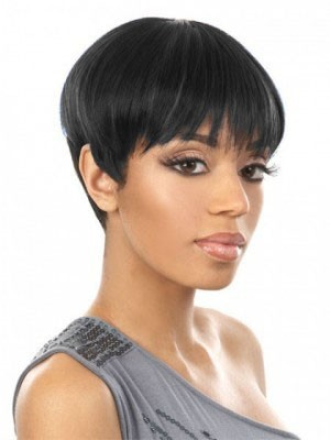 Stylish Sophisticated Boy-Cut Synthetic African American Wig