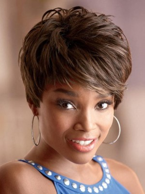 Chic Nadia Short Capless Synthetic African American Wig