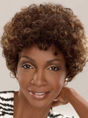 Curly Mid-Length Synthetic African American Wig