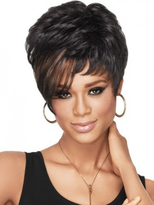 Chic Dramatic Tomboy Synthetic African American Wig