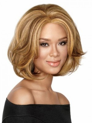 Mid-Length Bob Style Synthetic African American Wig