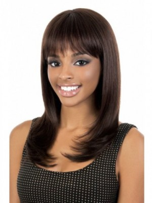Capless Long Human Hair African American Wig