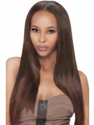 Long Straight Full Lace Human Hair African American Wig