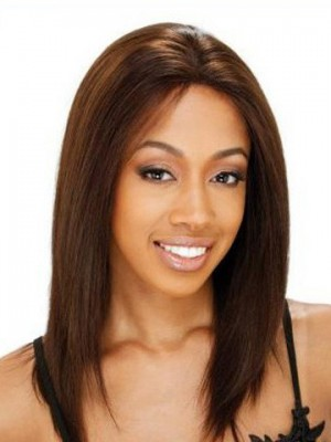 Straight Shoulder Length Lace Front African American Wig