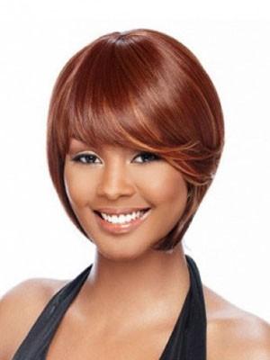Bob Straight Short African American Wig