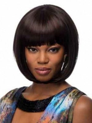 Lovely Capless Straight African American Wig