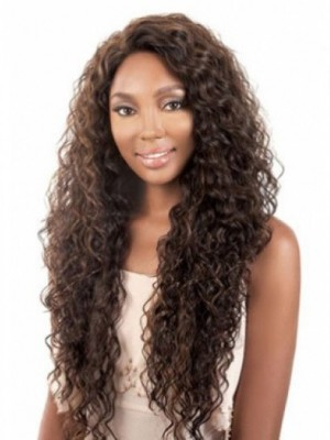 Curly Capless African American Wig