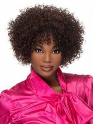 Classic Lace Front Curly African American Wig