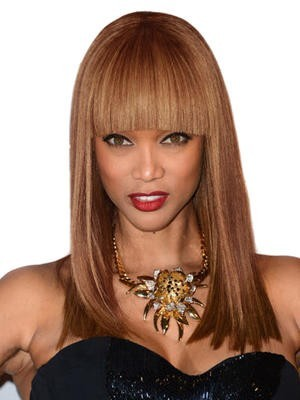 Long Straight Synthetic Lace Front African American Wig
