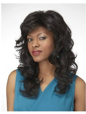 Natural Wavy Synthetic Lace Front African American Wig