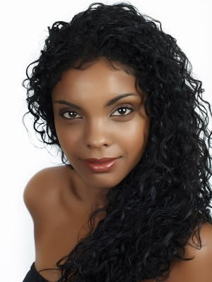 Synthetic Lace Front Long Curl African American Wig