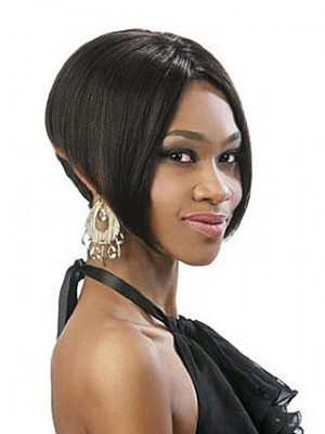Short Straight Full Lace African American Wig
