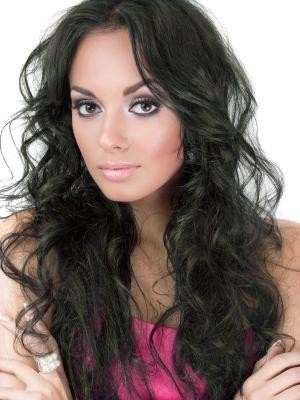 Wavy Long Full Lace Remy Hair African American Wig