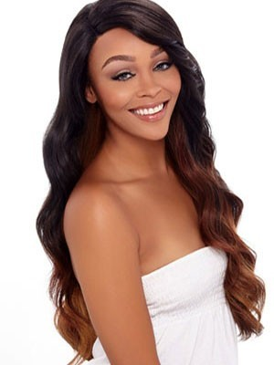 High Quality Long Wavy Human Hair Lace Front African American Wig