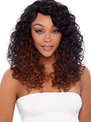 Curly Lace Front Long Human Hair African American Wig